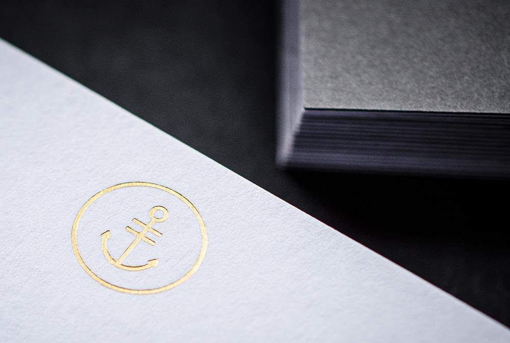 Harbour Brand ID - białe wizytowki