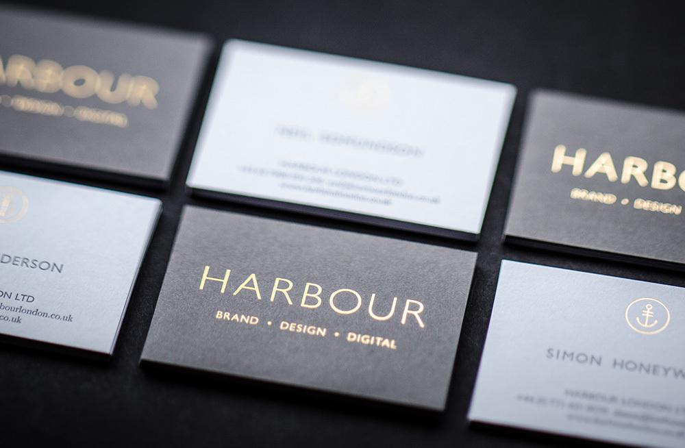 Harbour Brand ID - wizytowki zloty nadruk