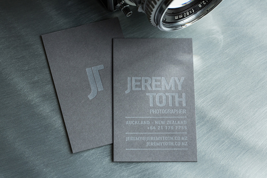 JEREMY TOTH - wizytowki letterpress