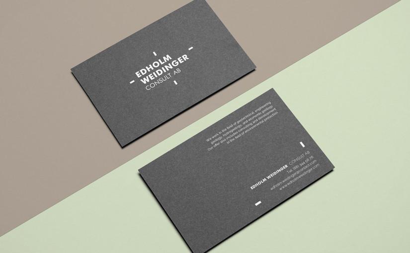 Minimalistyczne czarne wizytówki