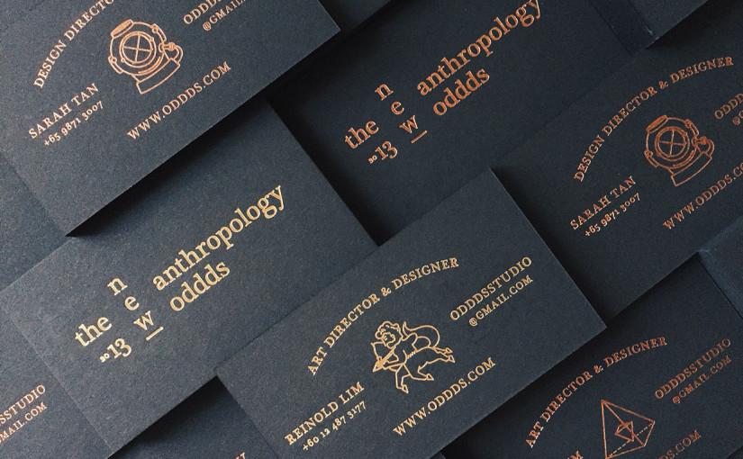 czarne wizytówki z hotstampingiem
