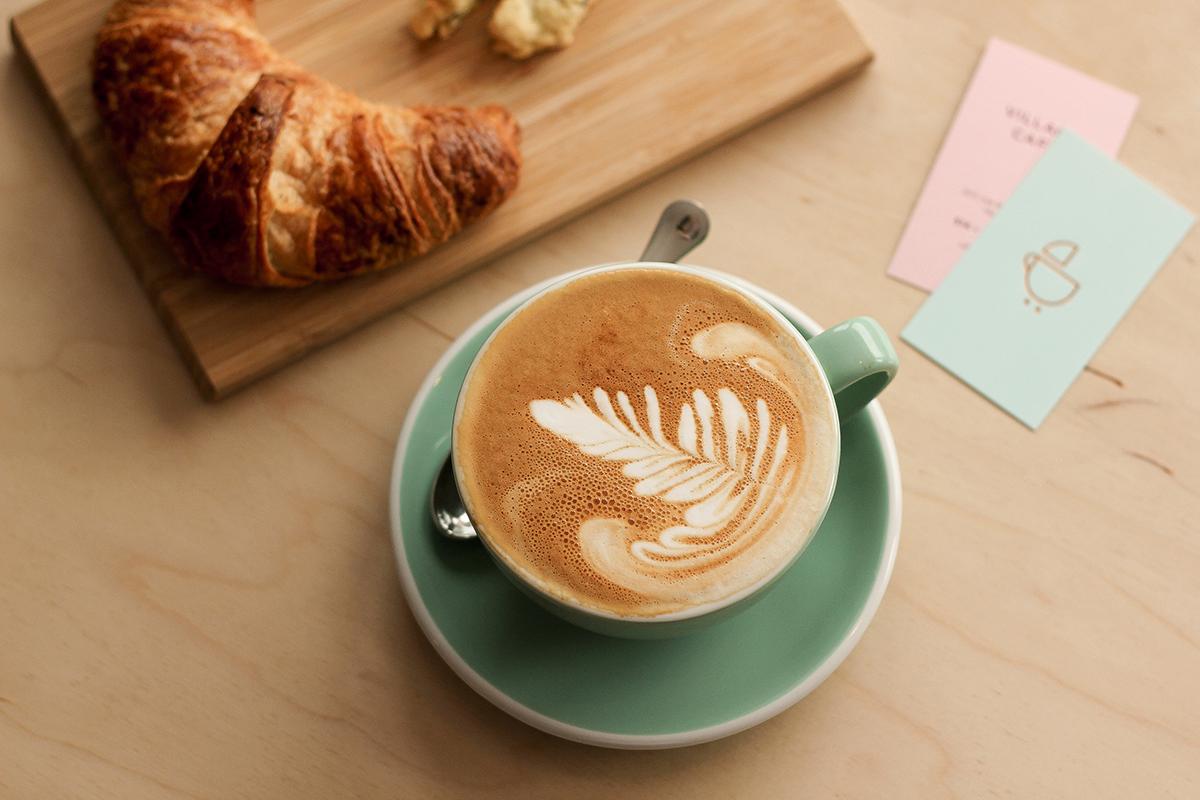 Villiage cafe - różowe wizytóki